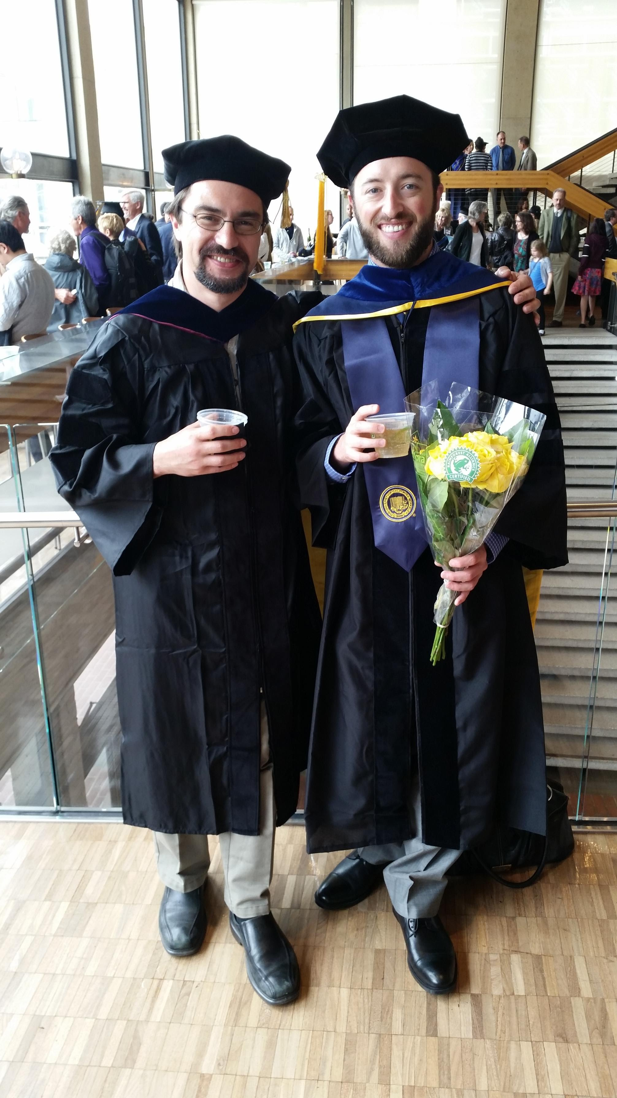 Jon and Yury at Jon's graduation ceremony.